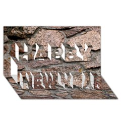 CEMENTED ROCKS Happy New Year 3D Greeting Card (8x4)