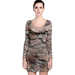 CEMENTED ROCKS Long Sleeve Bodycon Dresses