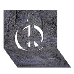 BLUE STUCCO TEXTURE Peace Sign 3D Greeting Card (7x5)
