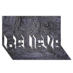 BLUE STUCCO TEXTURE BELIEVE 3D Greeting Card (8x4)