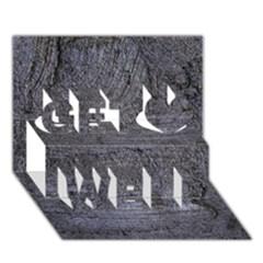 Blue Stucco Texture Get Well 3d Greeting Card (7x5)
