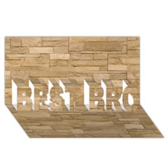 Block Wall 2 Best Bro 3d Greeting Card (8x4)