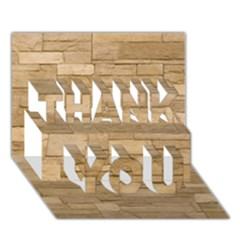 BLOCK WALL 2 THANK YOU 3D Greeting Card (7x5)
