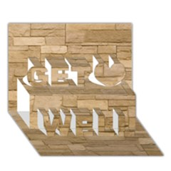 BLOCK WALL 2 Get Well 3D Greeting Card (7x5)