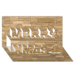 Block Wall 2 Merry Xmas 3d Greeting Card (8x4)