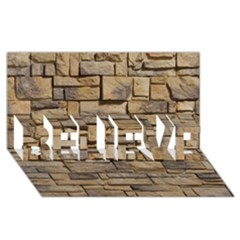 Block Wall 1 Believe 3d Greeting Card (8x4)
