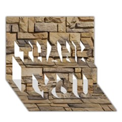 BLOCK WALL 1 THANK YOU 3D Greeting Card (7x5)