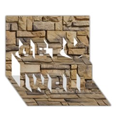 Block Wall 1 Get Well 3d Greeting Card (7x5)