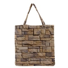 BLOCK WALL 1 Grocery Tote Bags