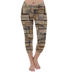 Block Wall 1 Capri Winter Leggings