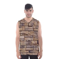 BLOCK WALL 1 Men s Basketball Tank Top