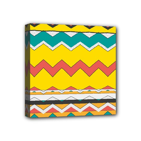 Zig zag Mini Canvas 4  x 4  (Stretched)