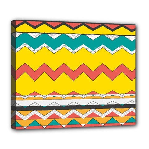 Zig zag Deluxe Canvas 24  x 20  (Stretched)