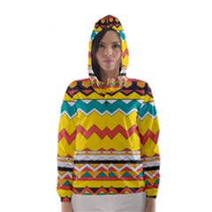 Zig zag Hooded Wind Breaker (Women)