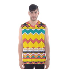 Zig zag Men s Basketball Tank Top