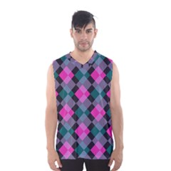Argyle Variation Men s Basketball Tank Top