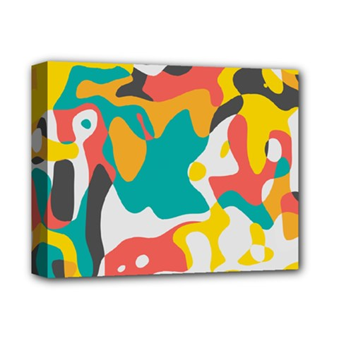 Cubist art Deluxe Canvas 14  x 11  (Stretched)