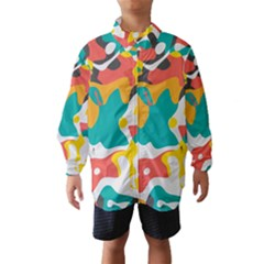 Cubist art Wind Breaker (Kids)