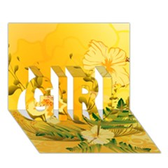 Wonderful Soft Yellow Flowers With Dragonflies Girl 3d Greeting Card (7x5)