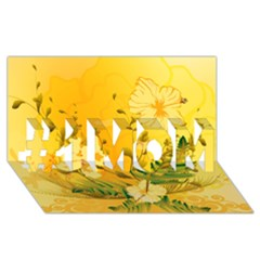 Wonderful Soft Yellow Flowers With Dragonflies #1 MOM 3D Greeting Cards (8x4)