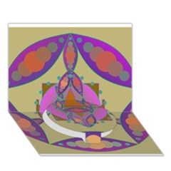 Mandala Circle Bottom 3d Greeting Card (7x5)