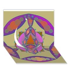 Mandala Circle 3d Greeting Card (7x5)