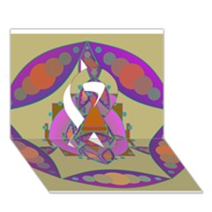 Mandala Ribbon 3d Greeting Card (7x5)