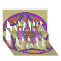 Mandala Thank You 3d Greeting Card (7x5)