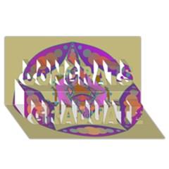Mandala Congrats Graduate 3d Greeting Card (8x4)