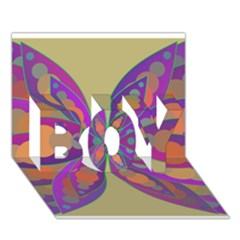 Fly Mandala Boy 3d Greeting Card (7x5)