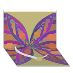 Fly-Mandala Heart Bottom 3D Greeting Card (7x5)