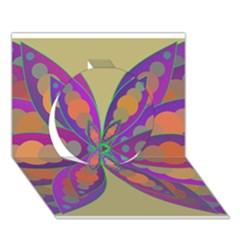 Fly-Mandala Circle 3D Greeting Card (7x5)