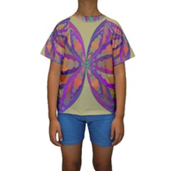 Fly-Mandala Kid s Short Sleeve Swimwear
