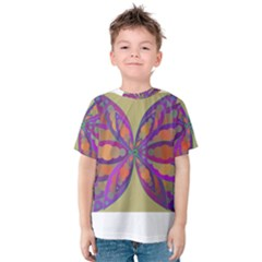 Fly Mandala Kid s Cotton Tee