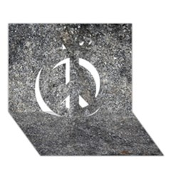 Black Mica Peace Sign 3d Greeting Card (7x5)