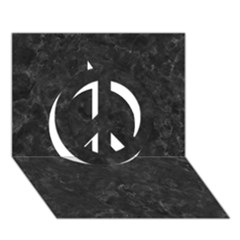 Black Marble Peace Sign 3d Greeting Card (7x5)