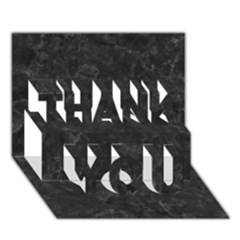 Black Marble Thank You 3d Greeting Card (7x5)