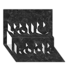 BLACK MARBLE You Rock 3D Greeting Card (7x5)