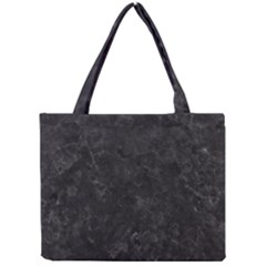 BLACK MARBLE Tiny Tote Bags