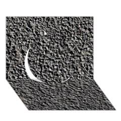 BLACK GRAVEL Circle 3D Greeting Card (7x5)