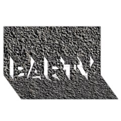 BLACK GRAVEL PARTY 3D Greeting Card (8x4)