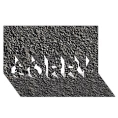 Black Gravel Sorry 3d Greeting Card (8x4)