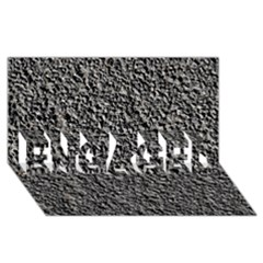 Black Gravel Engaged 3d Greeting Card (8x4)