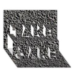 Black Gravel Take Care 3d Greeting Card (7x5)