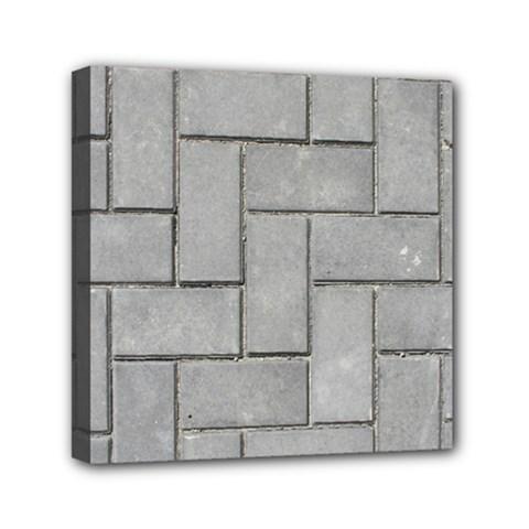 ALTERNATING GREY BRICK Mini Canvas 6  x 6