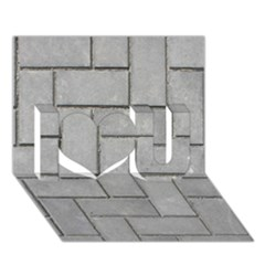 Alternating Grey Brick I Love You 3d Greeting Card (7x5)