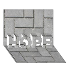 ALTERNATING GREY BRICK HOPE 3D Greeting Card (7x5)