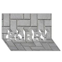 Alternating Grey Brick Sorry 3d Greeting Card (8x4)