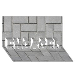 Alternating Grey Brick Engaged 3d Greeting Card (8x4)