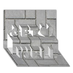 Alternating Grey Brick Get Well 3d Greeting Card (7x5)